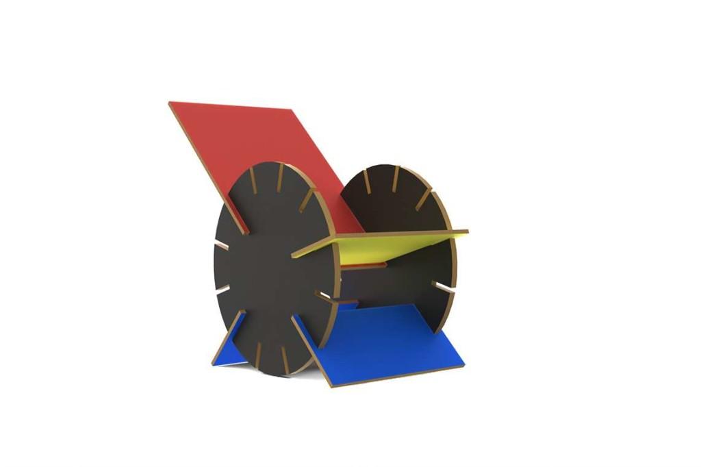Silla Tempo de Alan Arias Molina, medalla de plata.
