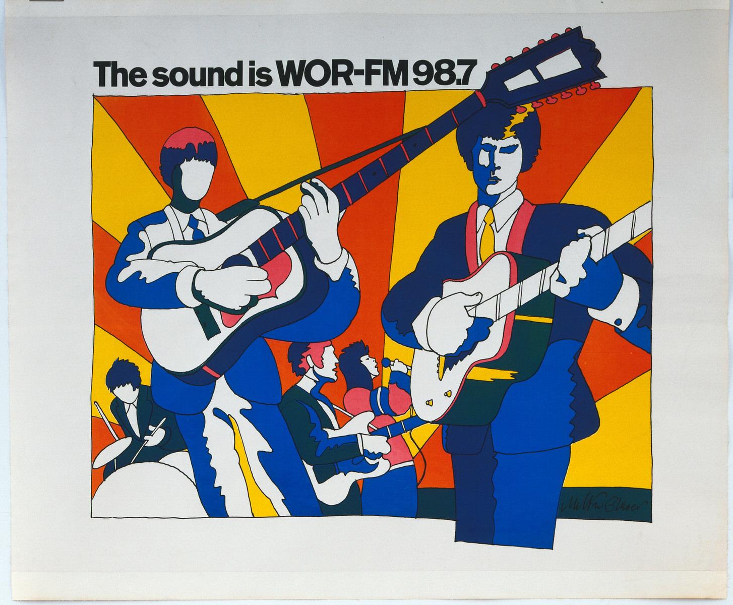 Milton Glaser, WOR-FM poster, 1966