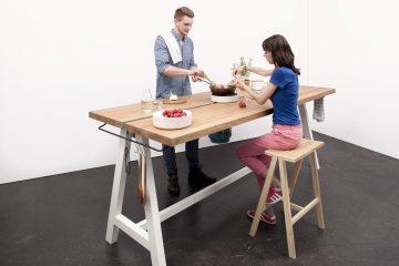 Cooking Table de Moritz Putzier. Foto: Caspar Sessler